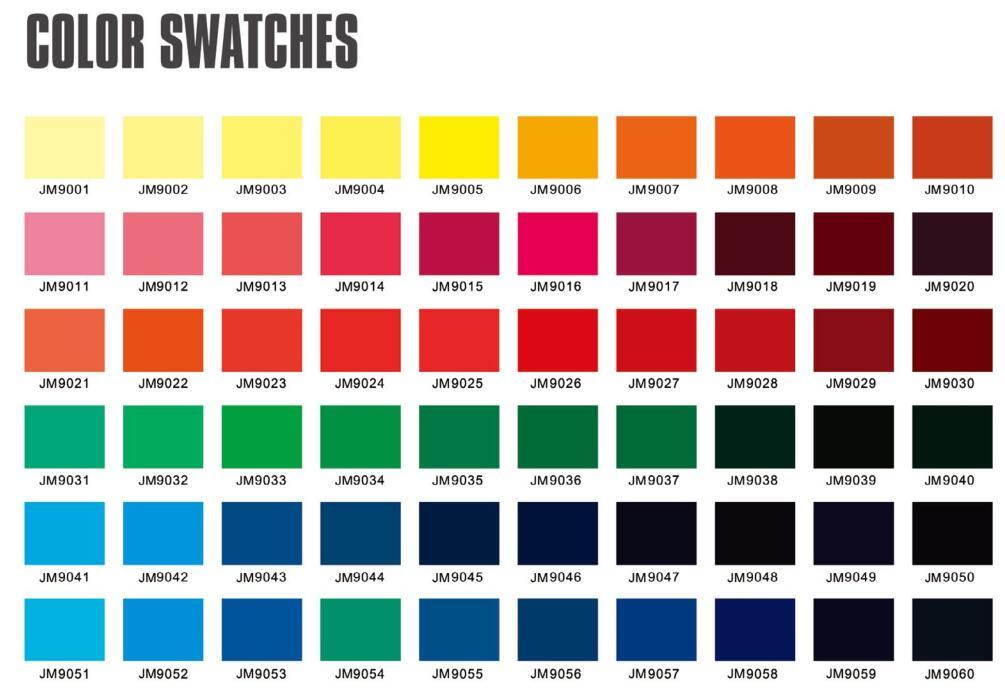 color swatches 1 product center xiamen jiemailong umbrella co ltd
